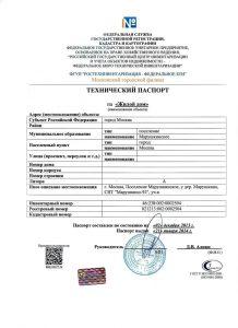 Разработка технического паспорта